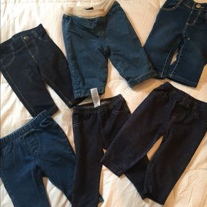 Lot of baby jeans and jeggings 3-6 mth 6-12 mth